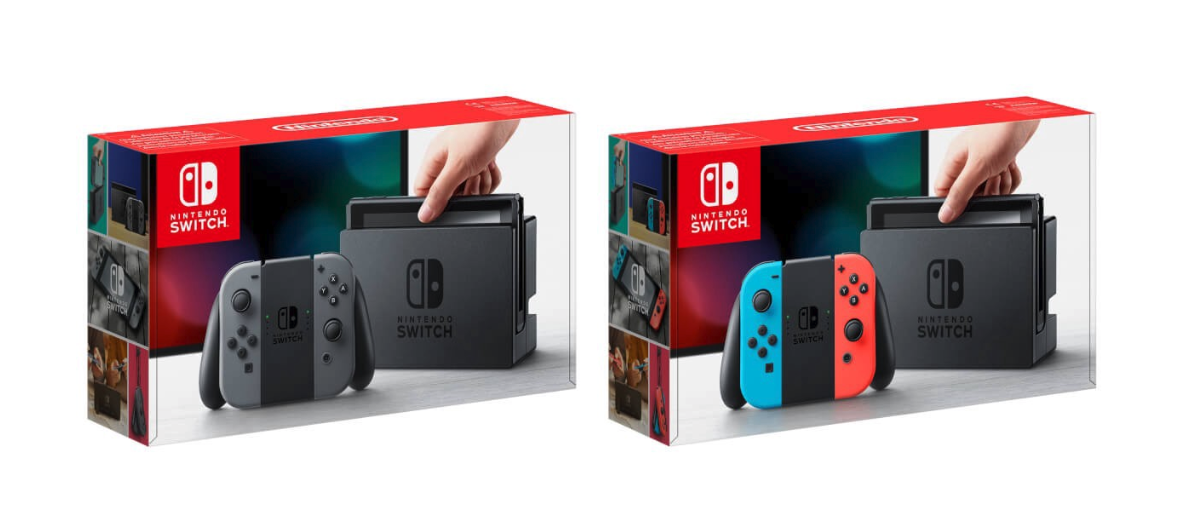 Nintendo Switch Grey and Neon